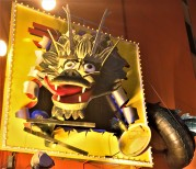 Giant dragon (but holding noodle soup, so you know, food)